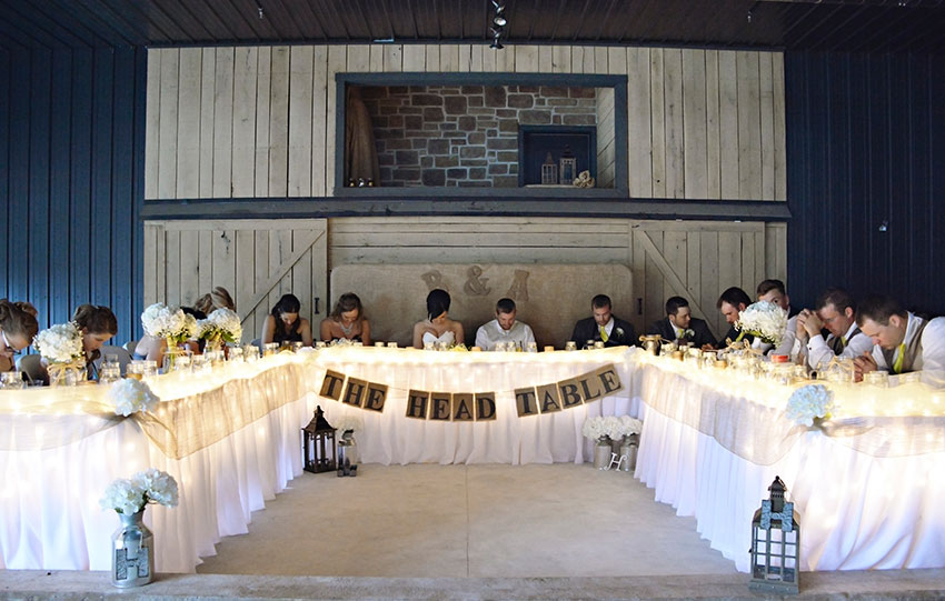 Head Table with Wedding Party