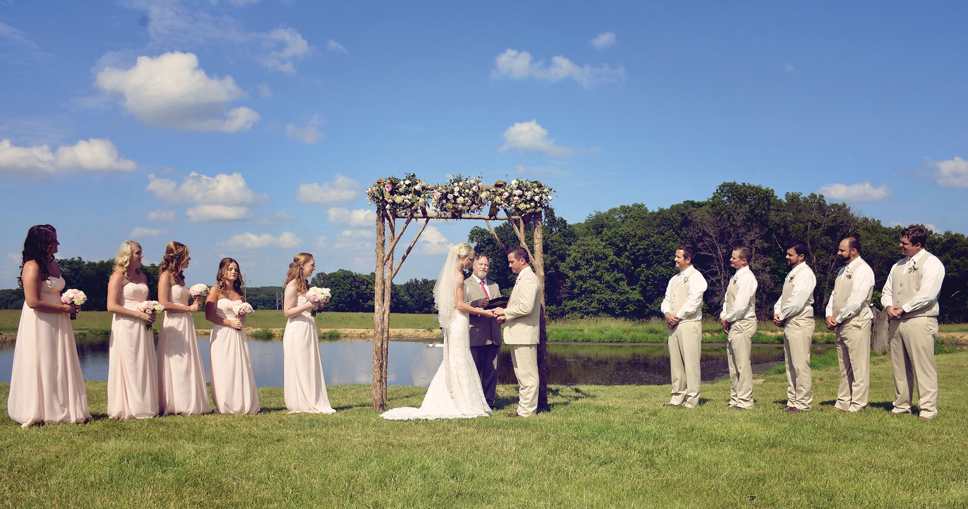 Ceremony by the lake