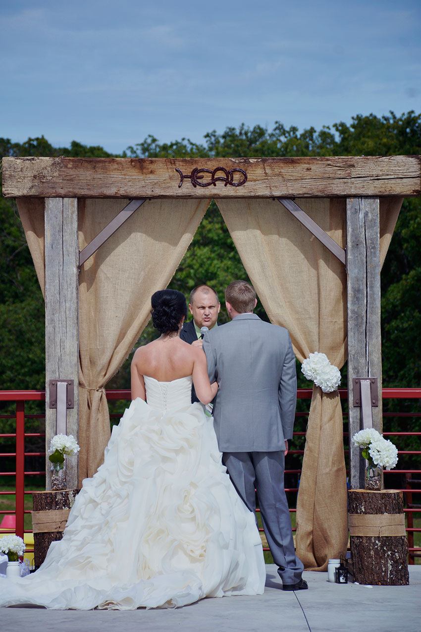 Ceremony overlooking the farm