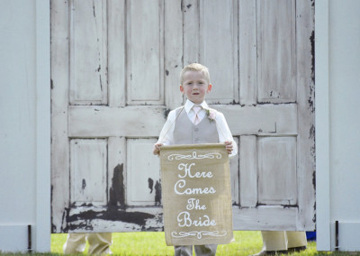ring bearer at Seven T Farms outdoor st louis area wedding venue in sullivan missouri