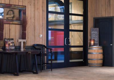 interior hall at Seven T Farms outdoor st louis area wedding venue in sullivan missouri