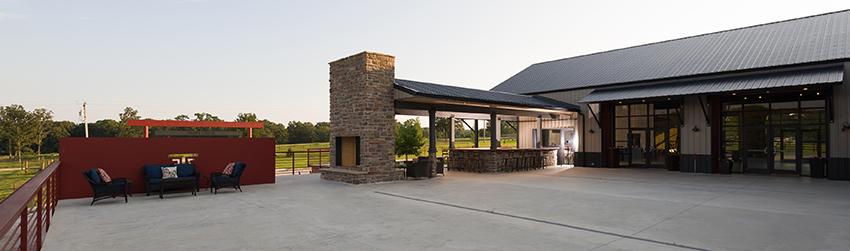patio bar at Seven T Farms outdoor st louis area wedding venue in sullivan missouri