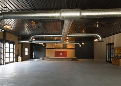 interior hall reception area at Seven T Farms outdoor st louis area wedding venue in sullivan missouri