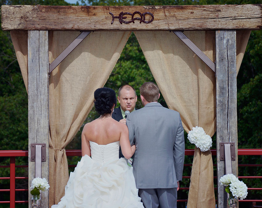 Ceremony overlooking the farm