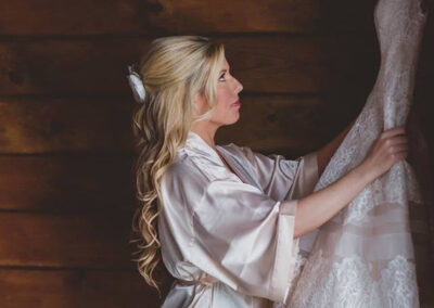Bride with Dress - Photo by BGI Photography