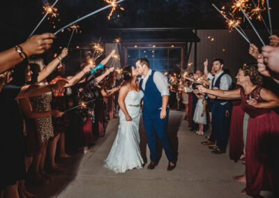 Sparklers at Reception - Photo by KC Photography
