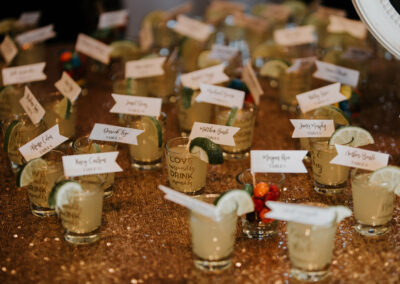 Place Names in Shot Glasses - Photo by Astrid Johana Photography