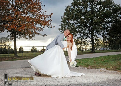 Couple Posing on Drive - photo by Lyle Whitworth